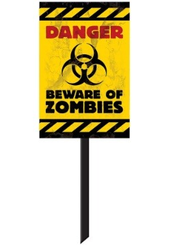 Zombie Yard Sign Decoration