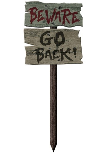 Go Back Yard Sign Decoration