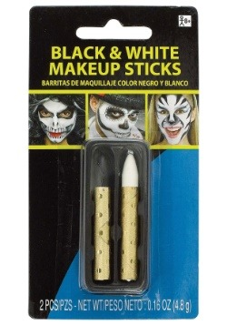 White and Black Makeup Sticks