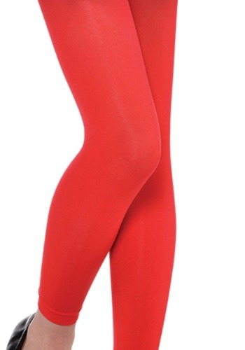 Child Red Footless Tights