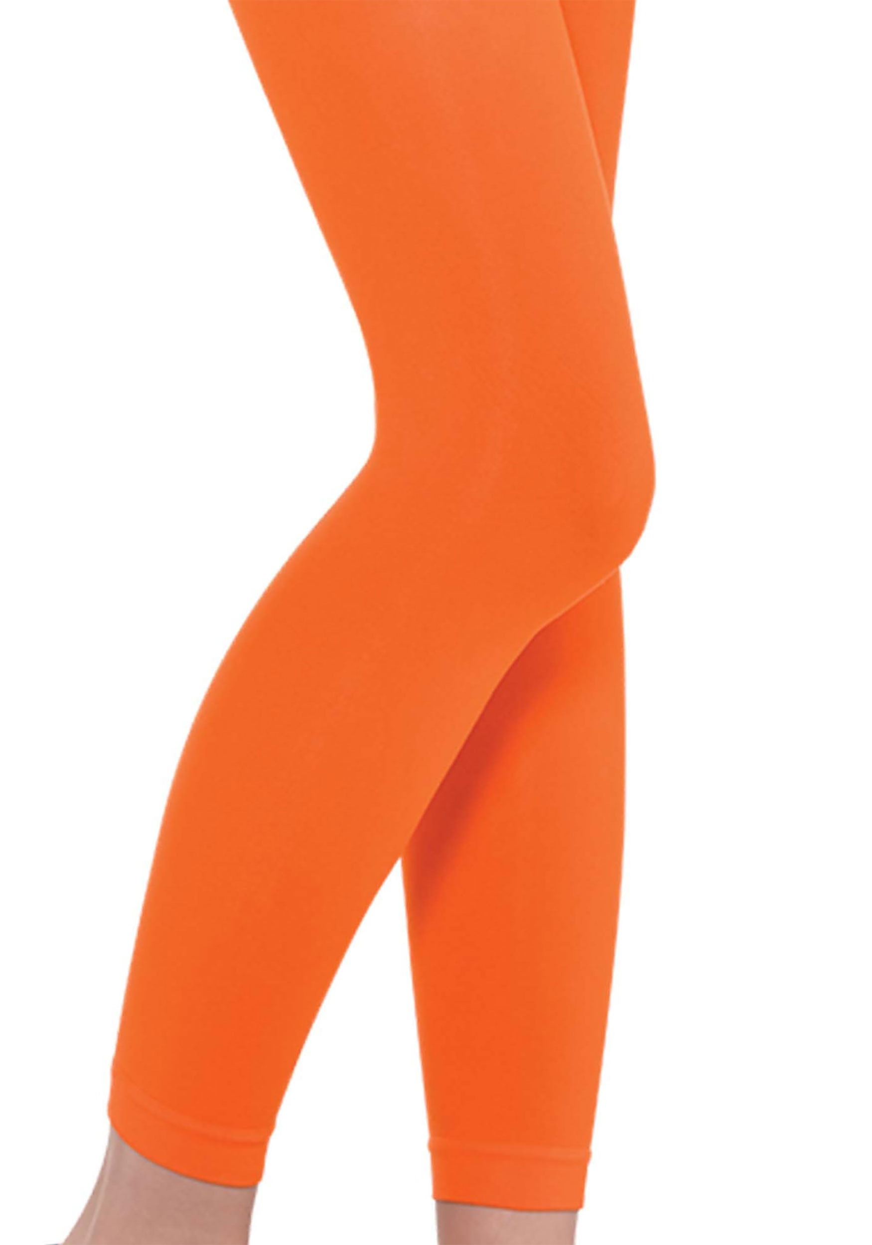 a923bc67bc3832 Orange Adult Footless Tights