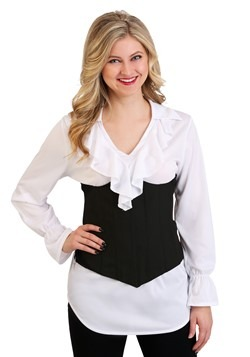 Plus Size Women's Ruffled Pirate Costume Blouse