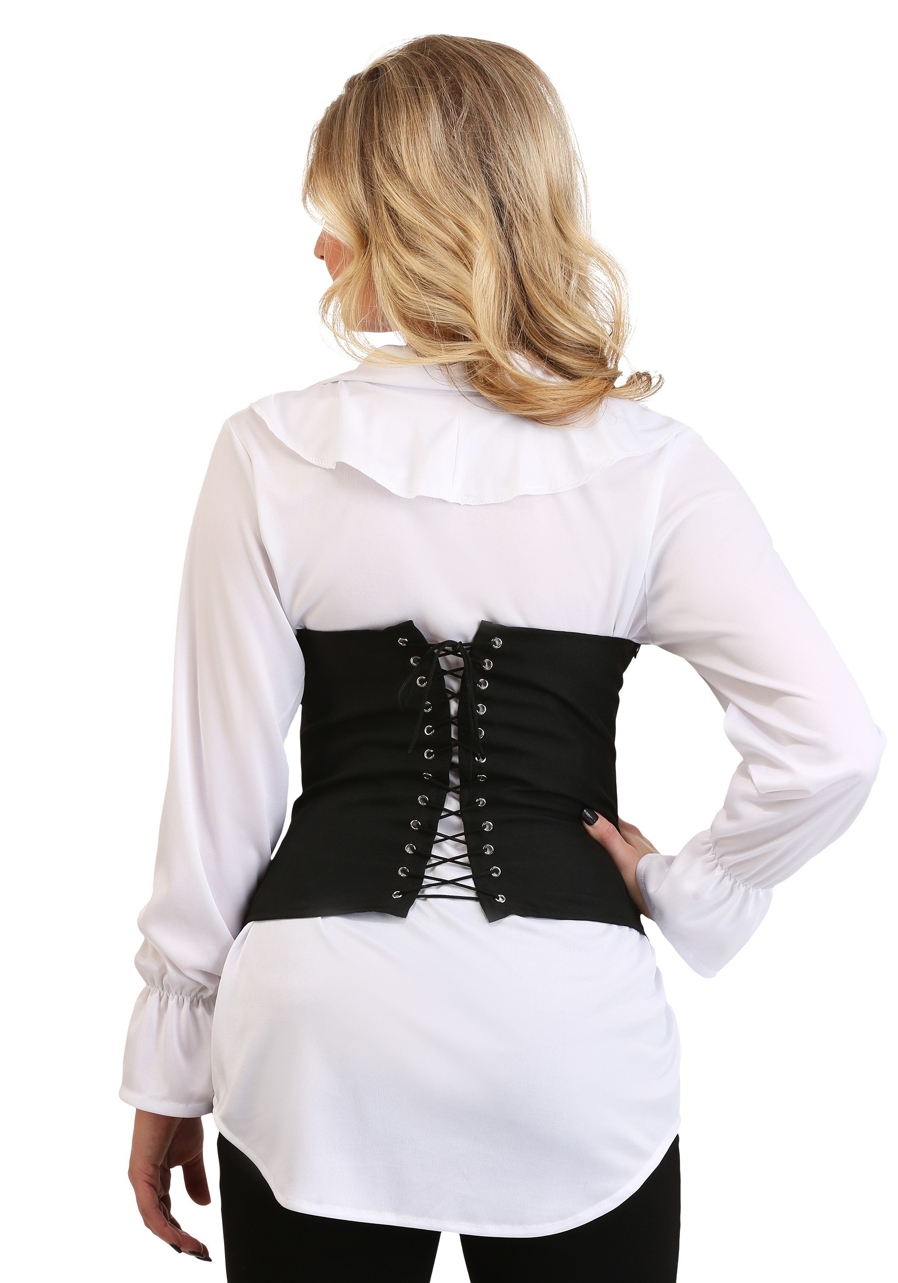 049c087a482f99 ... Plus Size Women's Ruffled Pirate Costume Blouse Alt1