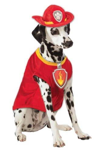 Click Here to buy Paw Patrol Marshall The Fire Dog Pet Costume from HalloweenCostumes, CDN Funds