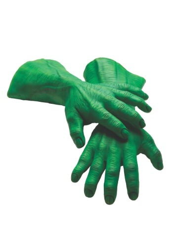 Hulk Hands Deluxe Latex Adult Gloves