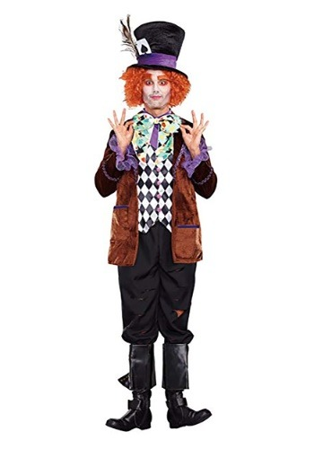 Click Here to buy Hatter Madness Mens Costume from HalloweenCostumes, CDN Funds