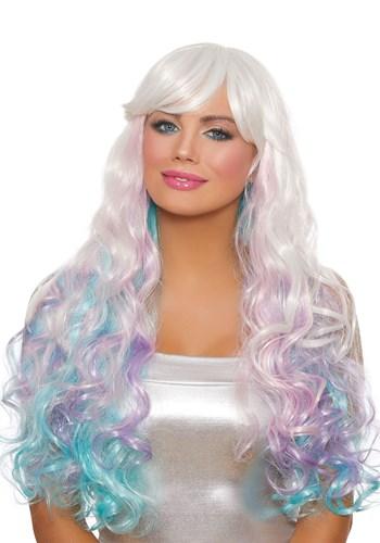 Women's Long Wavy Pastel Wig