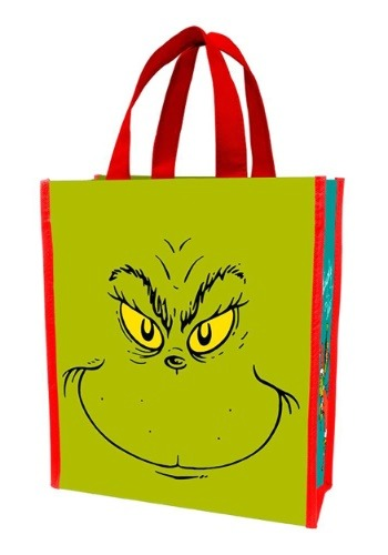 275f8f6476 733966082321. Dr Suess Grinch Naughty or Nice Recycled Treat Bag Shopper  Tote
