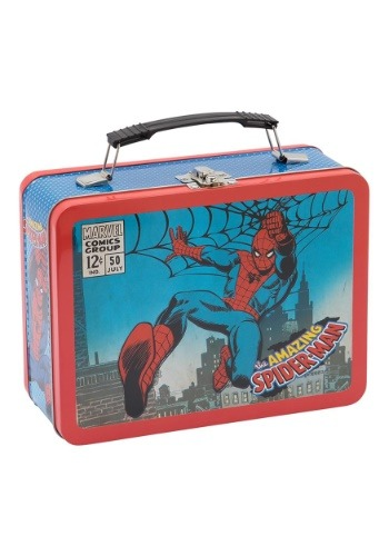 Click Here to buy Marvels Spider-Man Large Tin Tote from HalloweenCostumes, CDN Funds