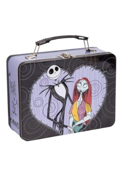 Nightmare Jack & Sally Large Tin Tote Lunch Box