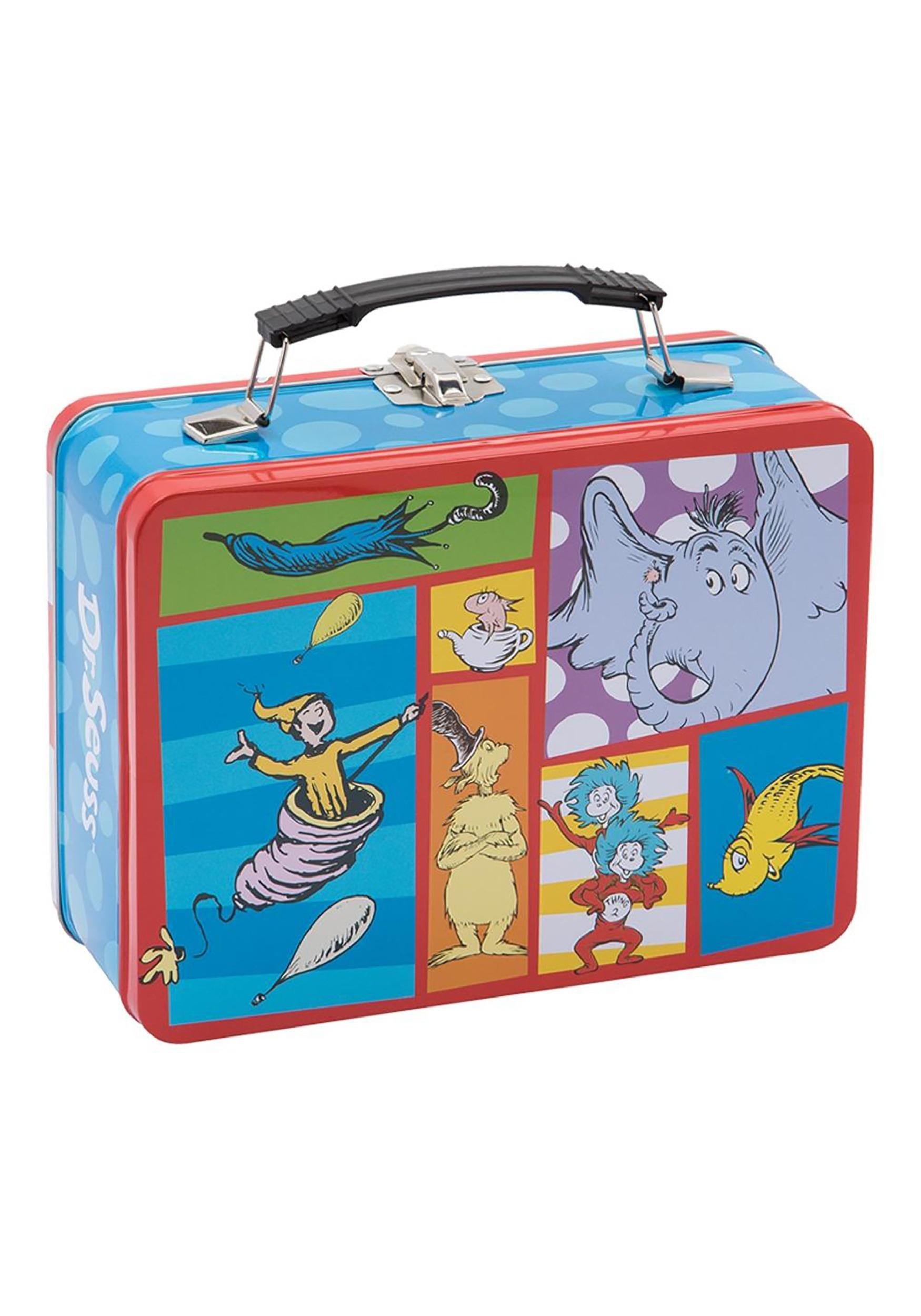 Dr Seuss Cat In The Hat Large Tin Lunch Box