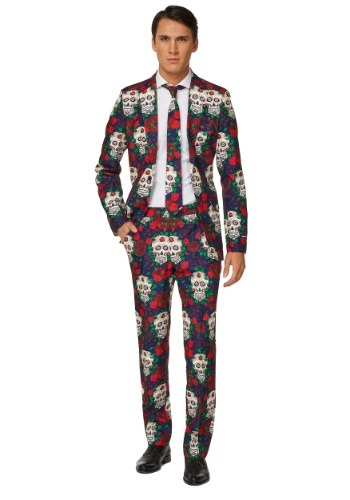 Mens Day of the Dead Suitmeister Suit Costume