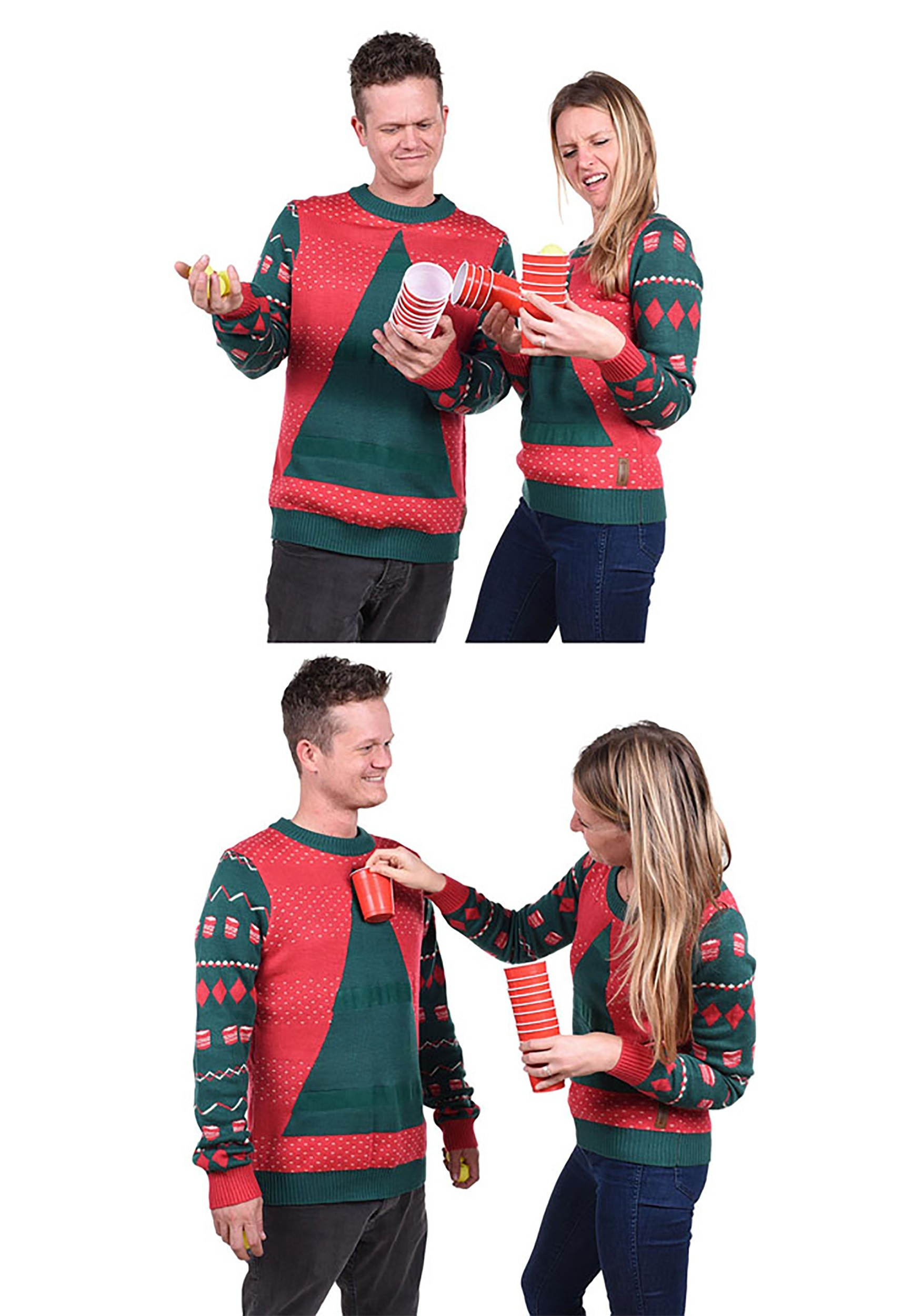 Beer Christmas Sweater.Tipsy Elves Womens Beer Pong Ugly Christmas Sweater