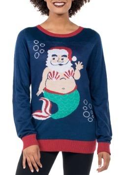 Women's Tipsy Elves Mermaid Santa Ugly Sweater Update