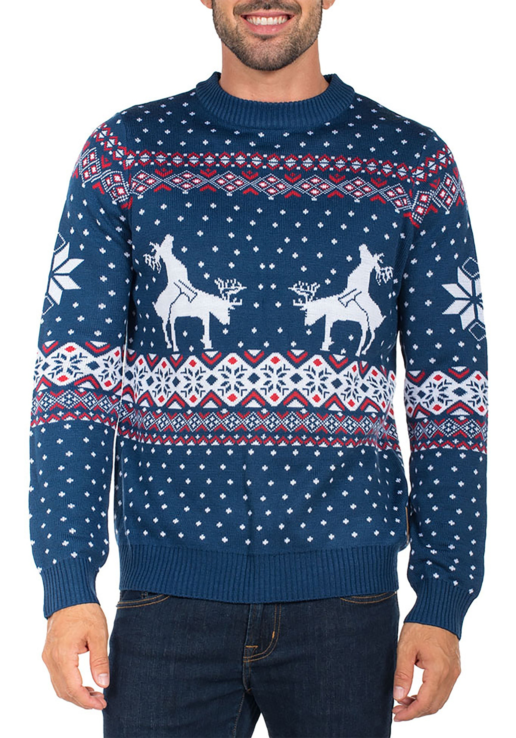 Tipsy Elves Reindeer Climax Ugly Christmas Sweater