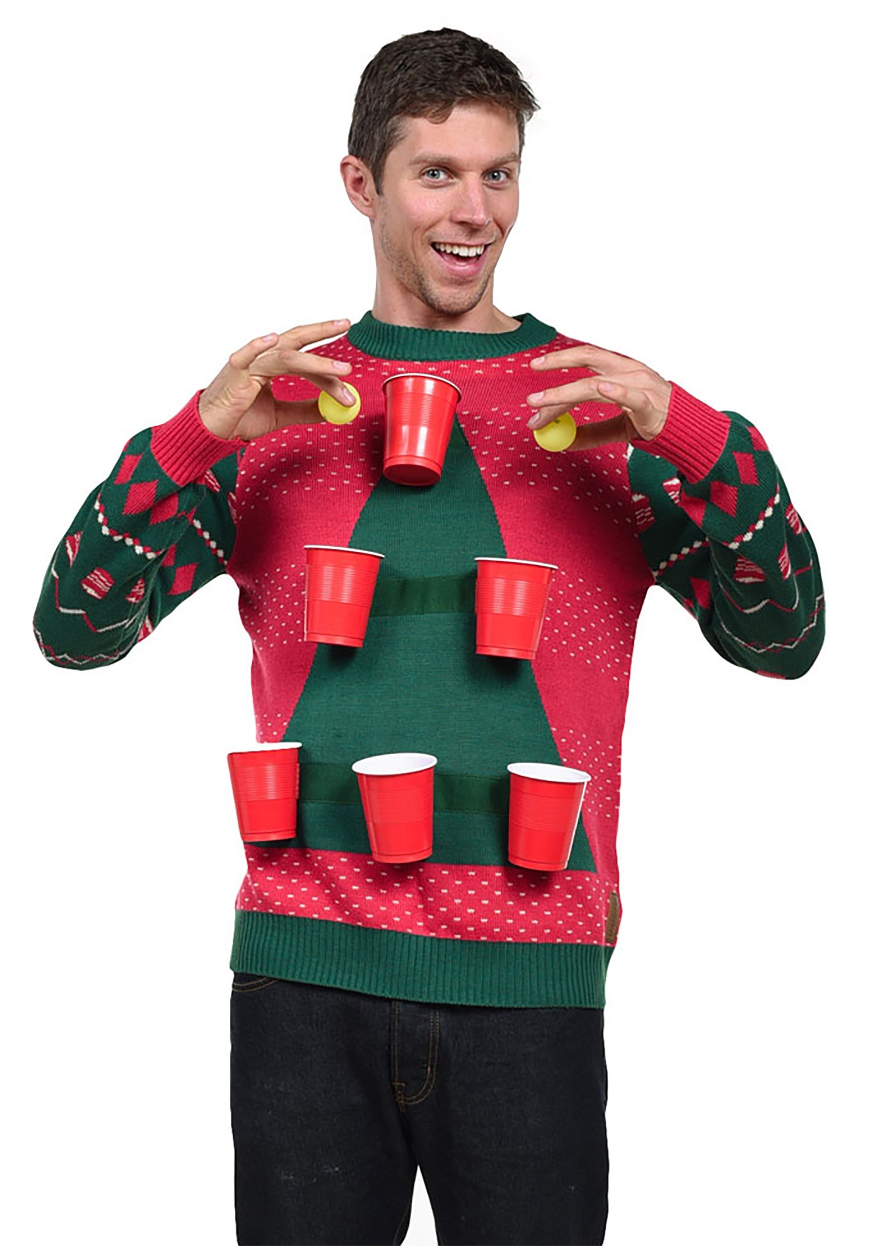 tipsy elves mens beer pong ugly christmas sweater - Ugly Christmas Sweater Elf