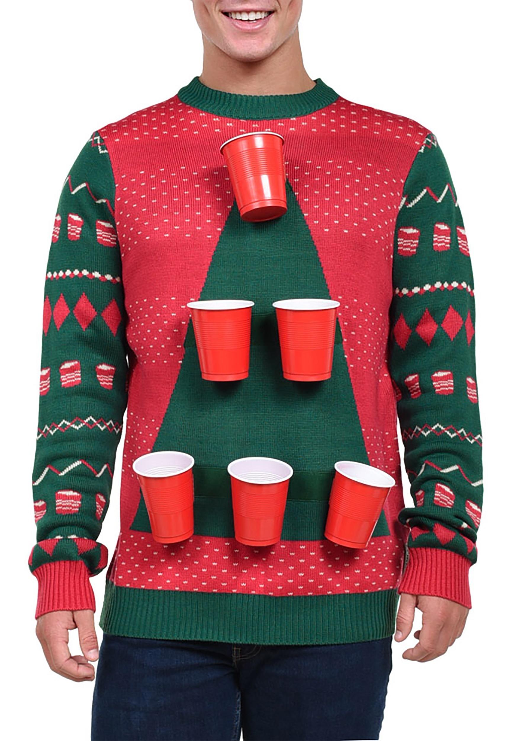 4bf37be2d30d ... Tipsy Elves Men s Beer Pong Ugly Christmas Sweater alt3