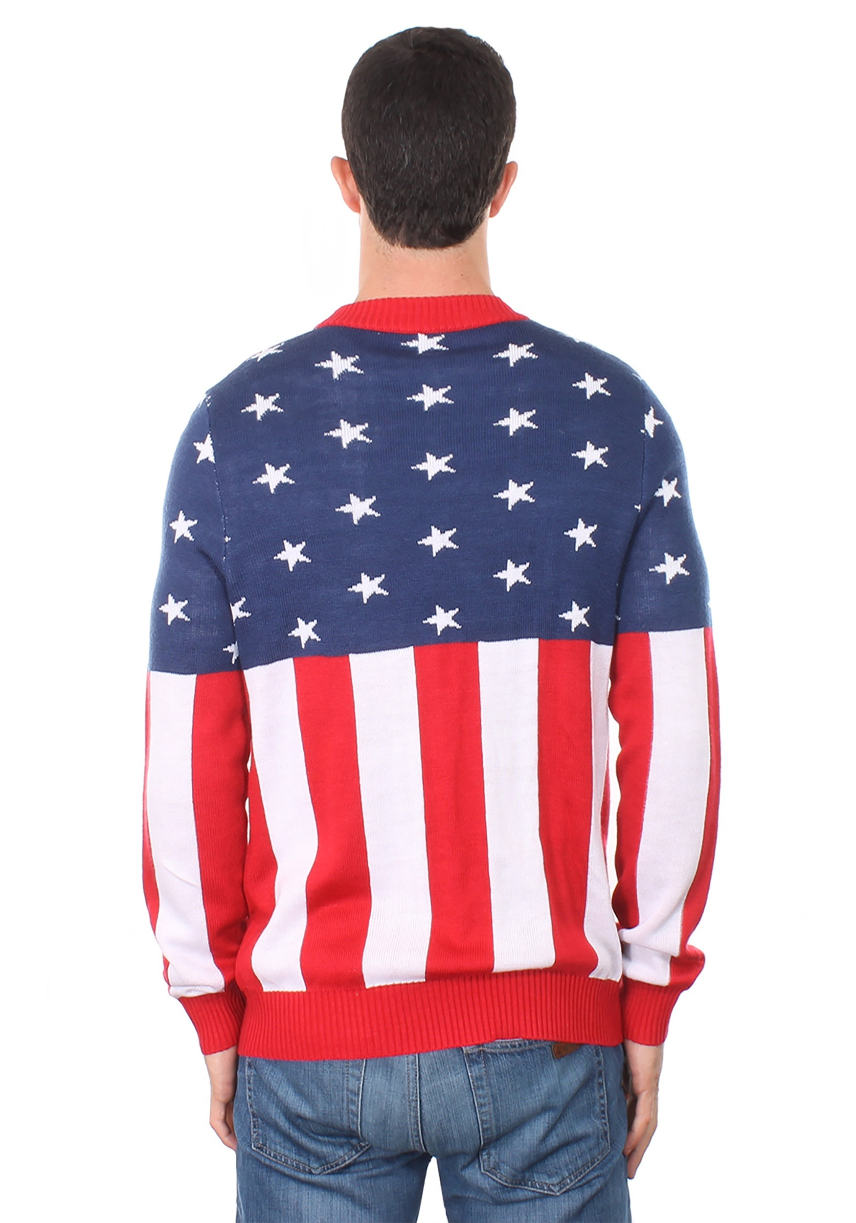 cdae667e29e ... Men s Tipsy Elves American Flag Holdiay Sweater