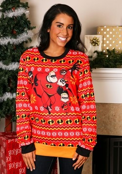 Adult Incredibles Red Ugly Christmas Sweater UPD
