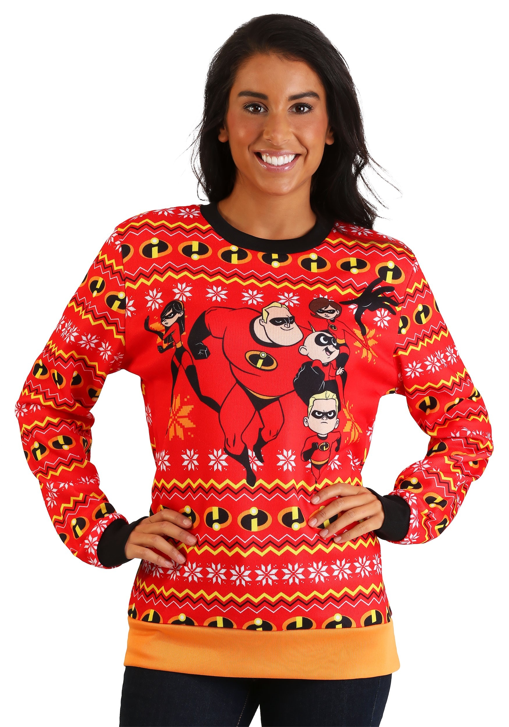 adult incredibles red ugly christmas sweater alt3 - Red Ugly Christmas Sweater