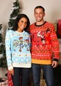 Toy Story Light Blue Ugly Christmas Sweater for Adults Pixar