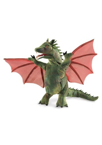 "9"" Folkmanis Winged Dragon Puppet"
