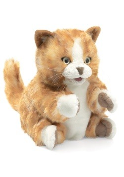 Folkmanis 8 Inch Orange Tabby Kitten Puppet