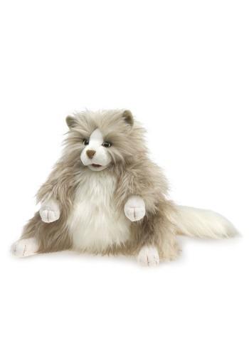 Folkmanis Fluffy Cat 12 Inch Puppet