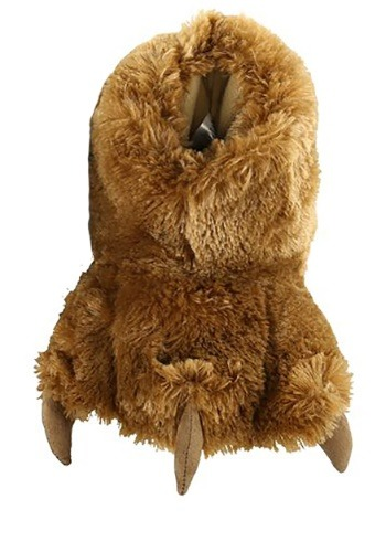 Kids Brown Bear Paw Slippers