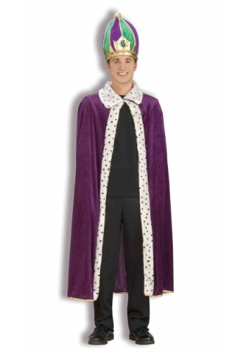 Click Here to buy Mardi Gras Crown and Robe Set from HalloweenCostumes, CDN Funds