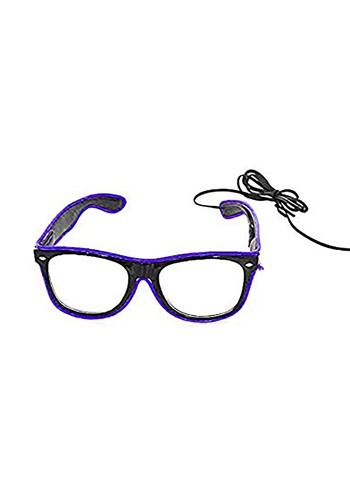 Click Here to buy Black Frame EL Wire Glasses Purple from HalloweenCostumes, CDN Funds