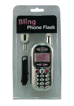 Bling Bling Cell Phone Flask 3 oz
