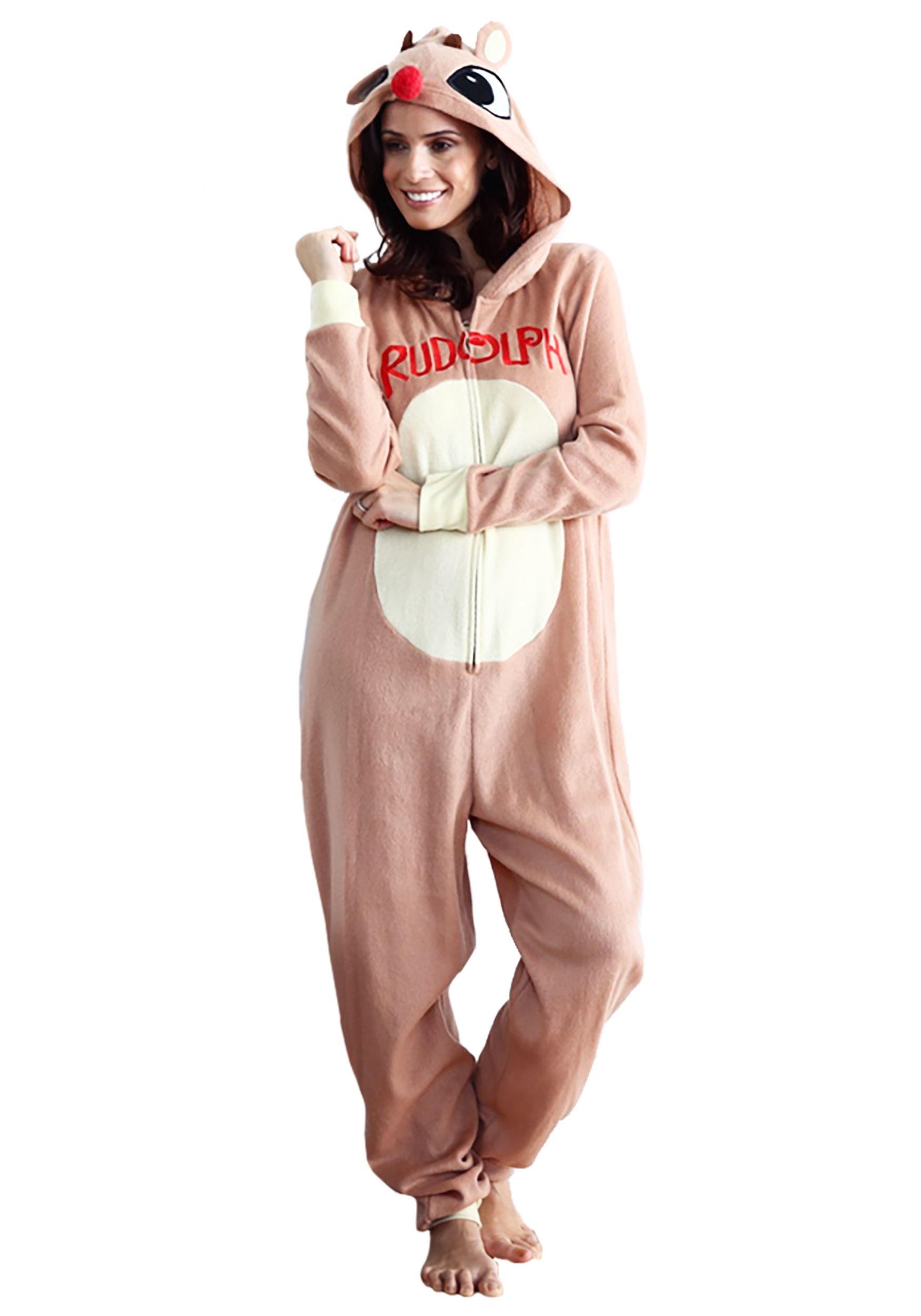 7f96ec8d74 Rudolph Pajama Costume for Women