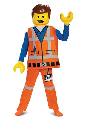 Click Here to buy LEGO Movie 2 Boys Emmet Deluxe Costume from HalloweenCostumes, CDN Funds