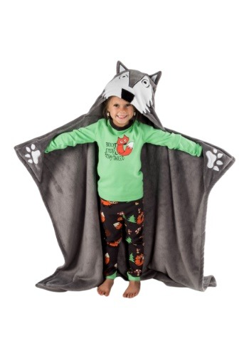 Wolf Critter Kids Blanket by Lazy One