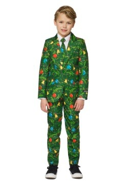 Boys Green Christmas Tree Suitmiester