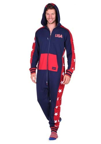 Tipsy Elves Men's USA Stars Jumpsuit Costume 1