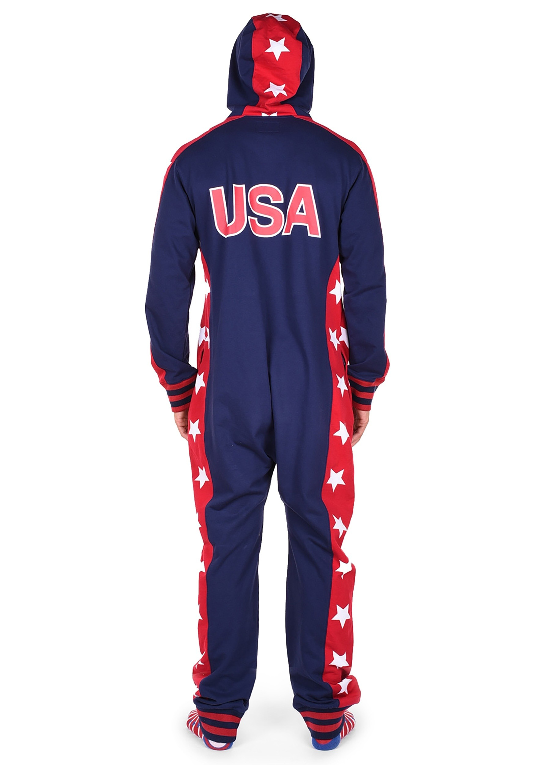 970db455bae4 Men s Tipsy Elves USA Stars Jumpsuit Costume