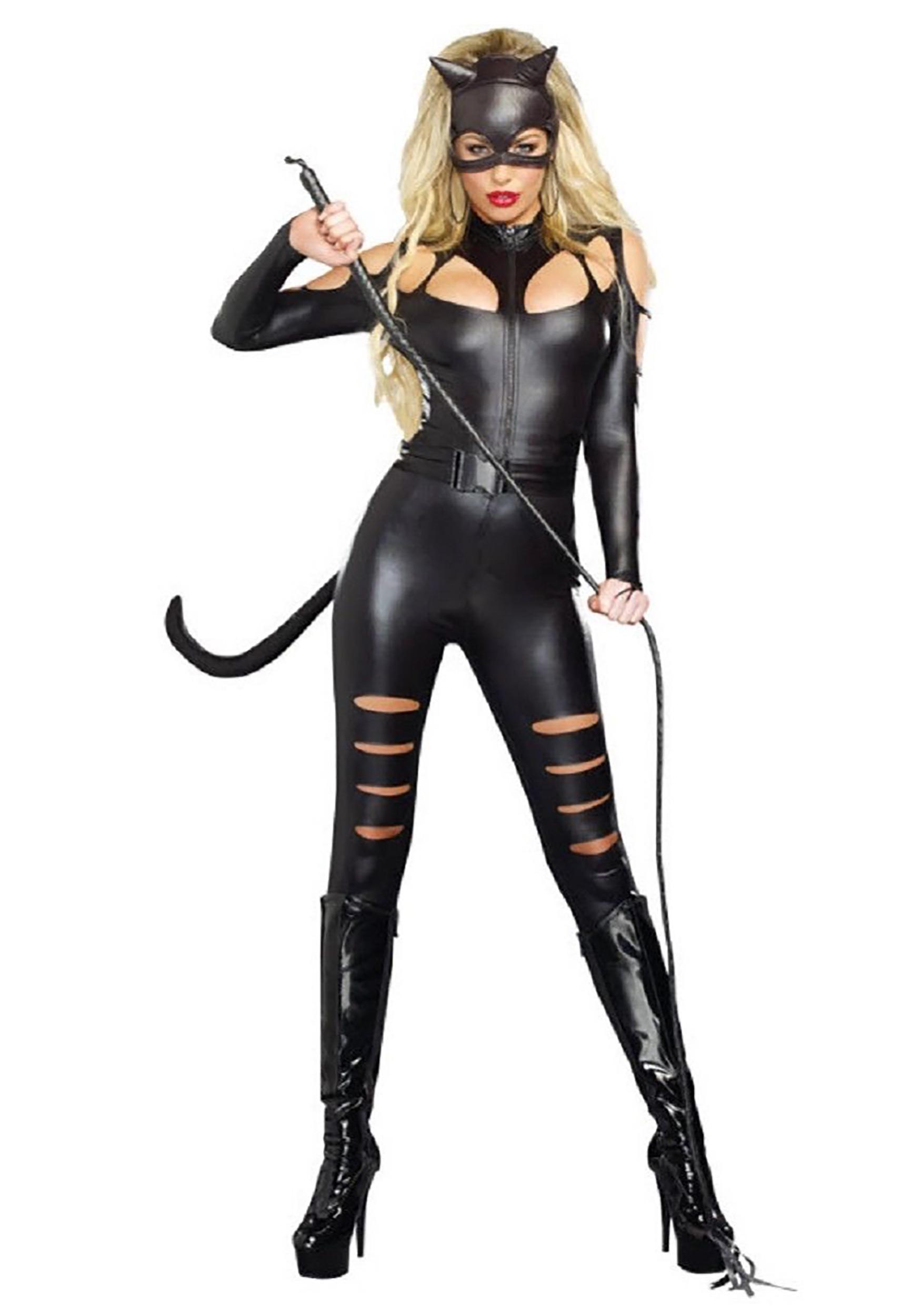 Women's Black Cat Fight Costume