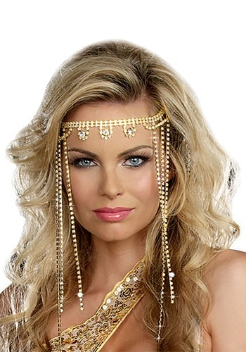 Gold Shimmer Rhinestone Headpiece Update Main