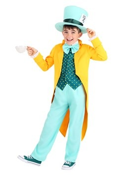 Child's Bright Mad Hatter Costume