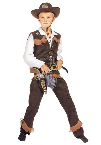 Click Here to buy Kids Rawhide Cowboy Costume from HalloweenCostumes, CDN Funds