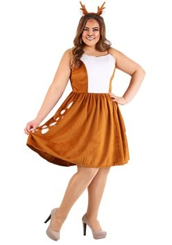 Women's Dazzling Deer Costume for Plus Size