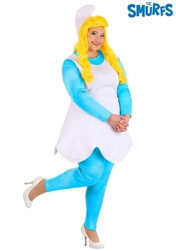 The Smurfs Women's Plus Size Smurf Smurfette Costu