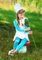 The Smurfs Toddler Girls Smurfette Costume Alt 1