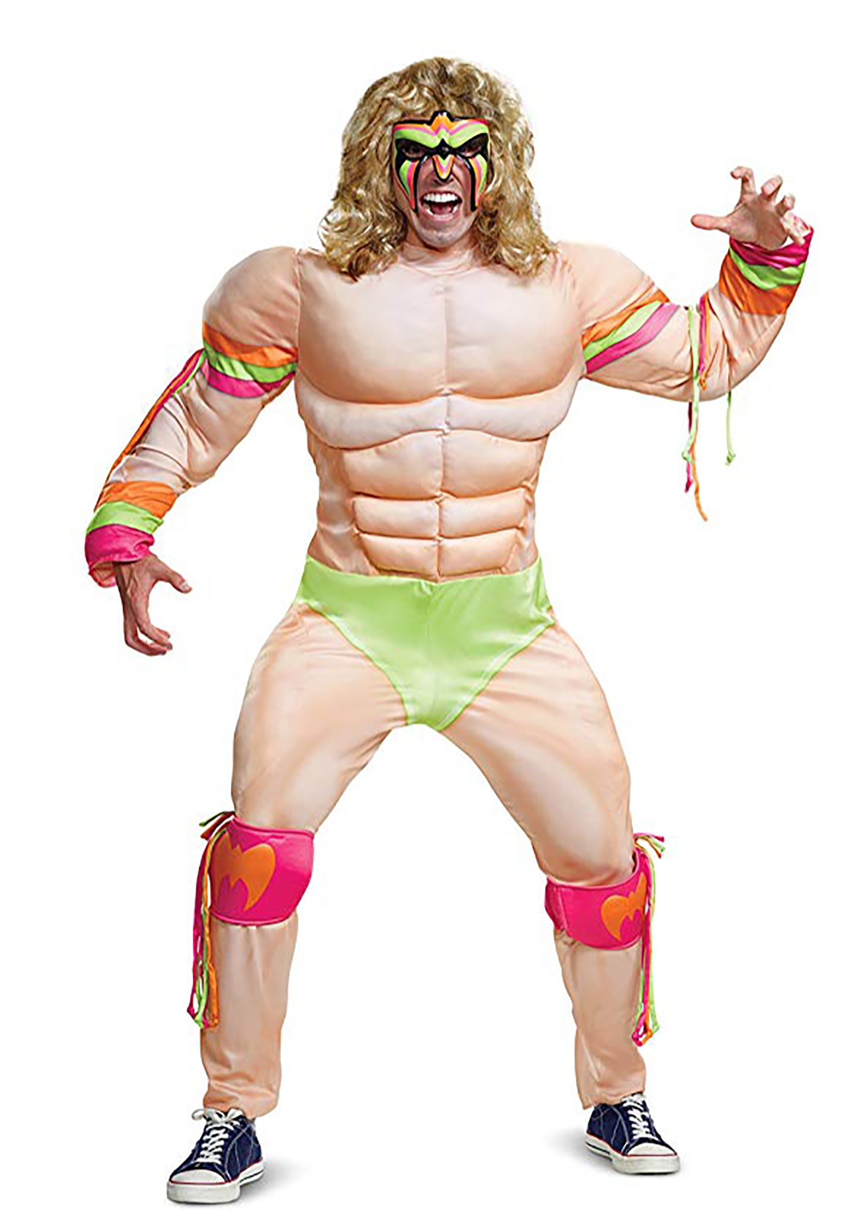 wwe ultimate warrior muscle costume for adults