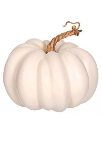 5'' White Pumpkin Decoration