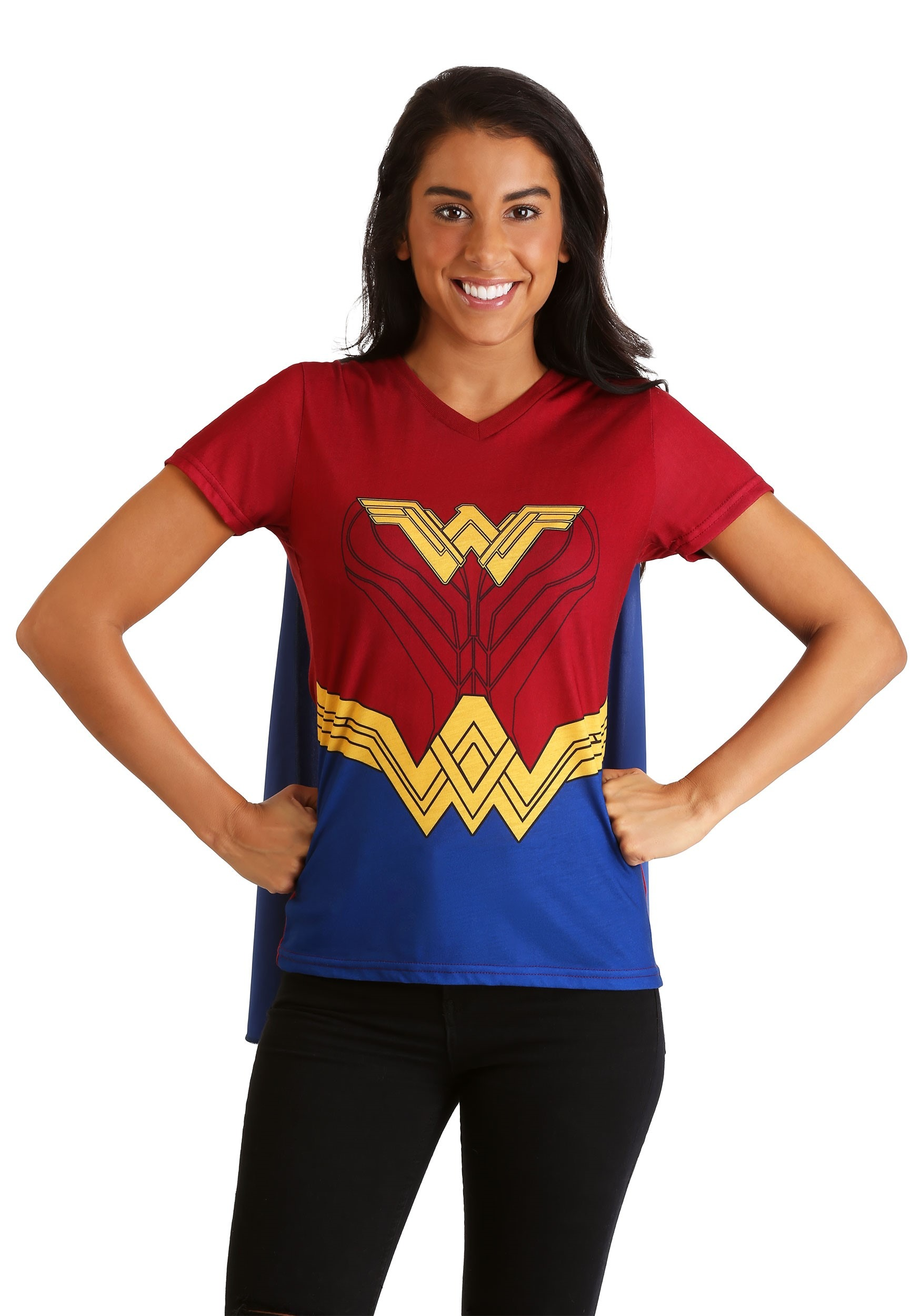 9a0d6227619 Wonder Woman Cape Costume T-Shirt for Women