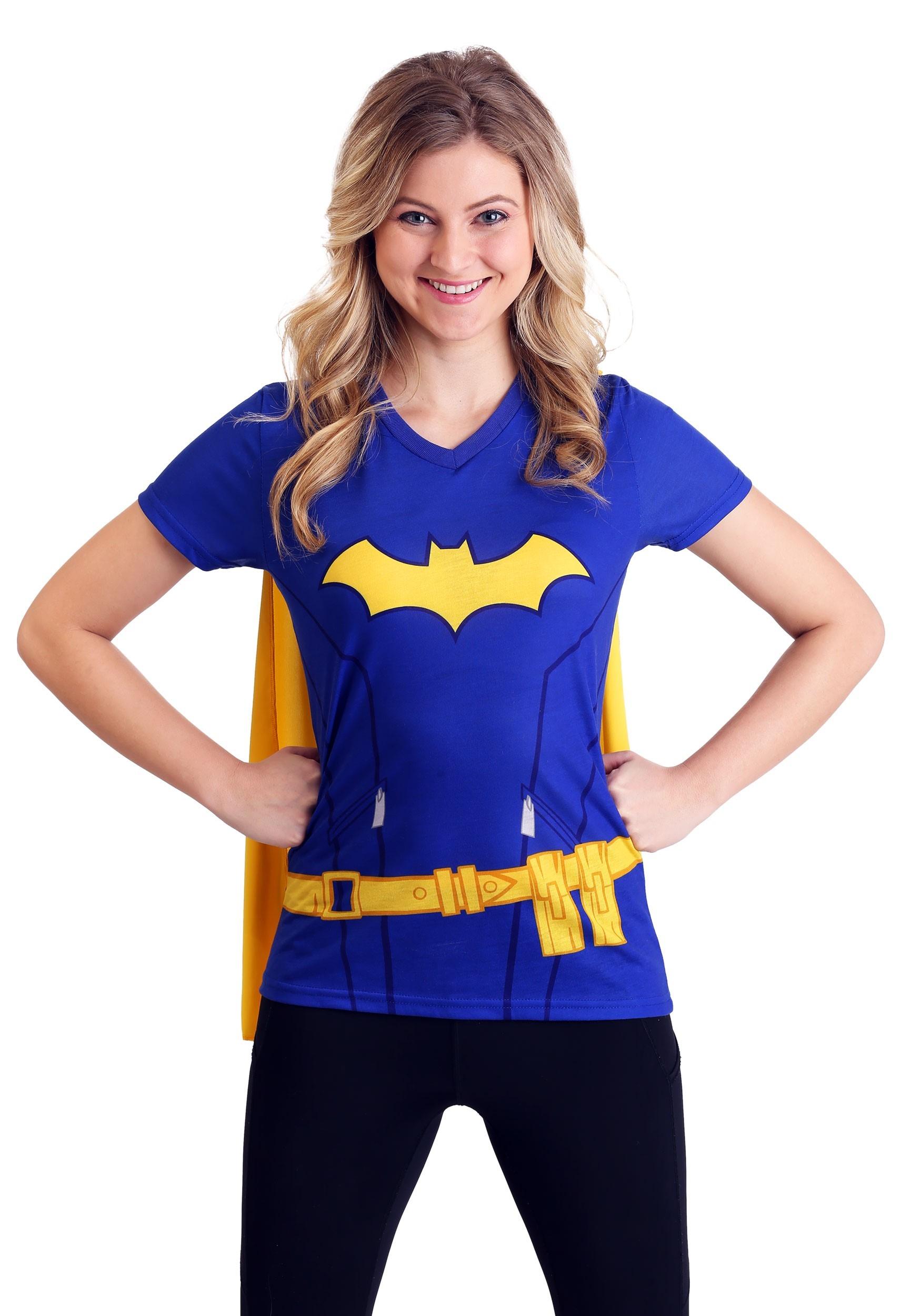 b1922427 DC Comics Batgirl Cape Costume T-Shirt For Women