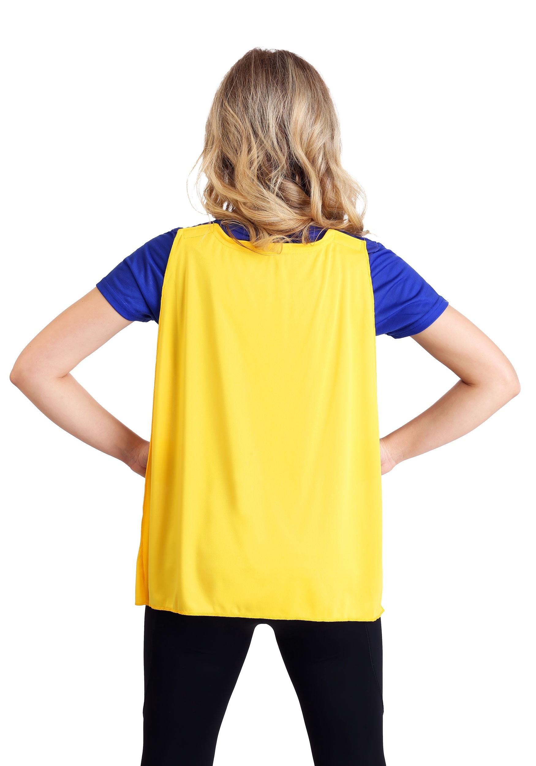 cd2e624c ... Batgirl Cape Costume T-Shirt For Women Alt